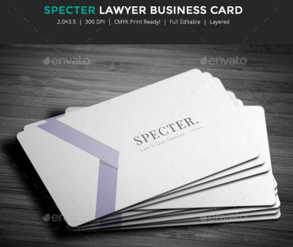 Clean Lawyer Business Card Template