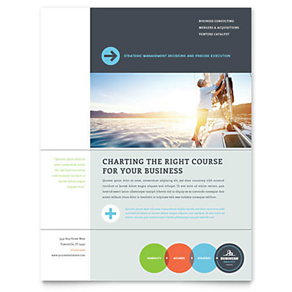 Clean Modern Business Analyst Flyer Template