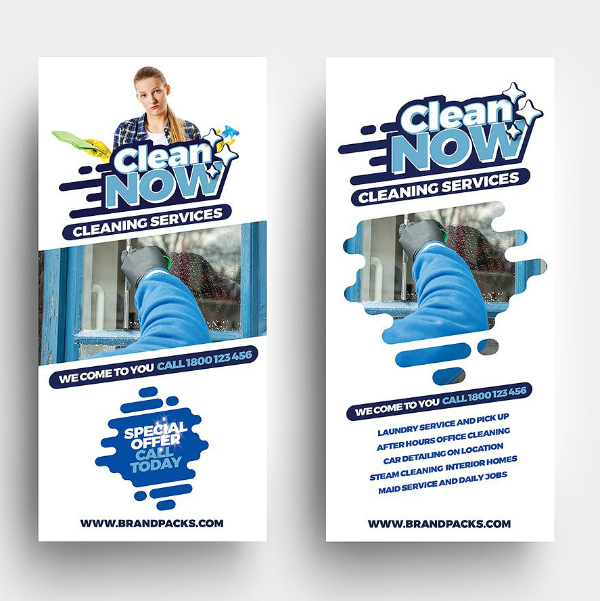 Clean Now Service Rack Card Template