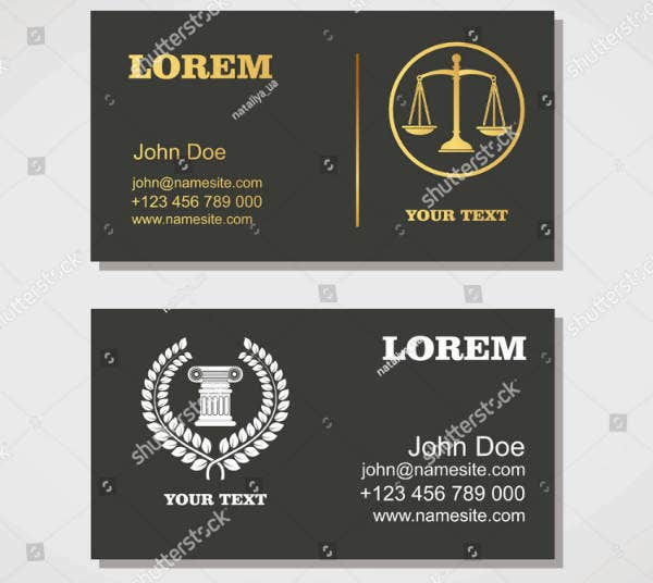 Clean & Simple Lawyer Business Card Template