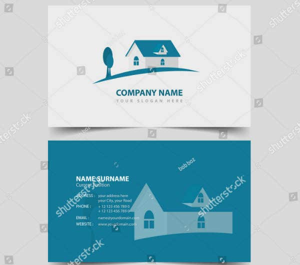 Clean Simple Real Estate Business Card