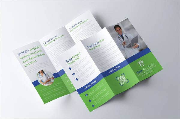 Clean and Minimal Medical Tri-fold Brochure