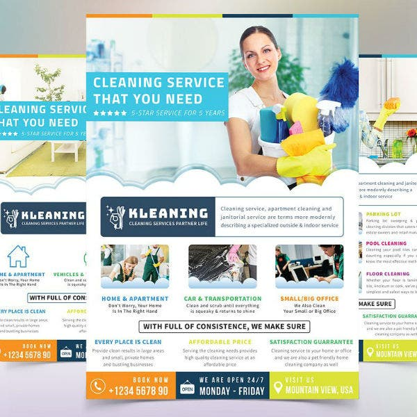 cleaning-service-contractor-flyer-template