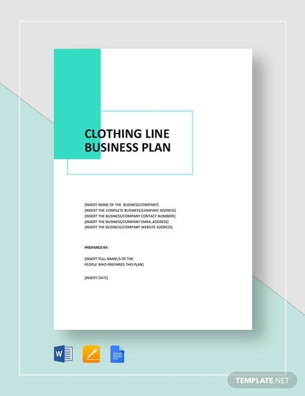 clothing line business plan template1