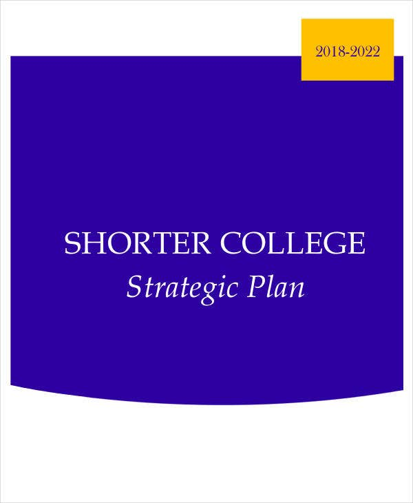 college 5 year strategic plan