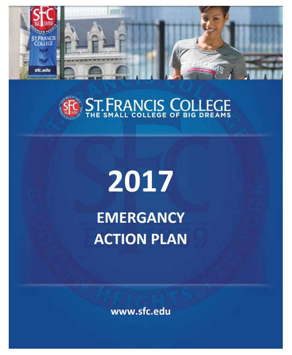 college emergency action plan
