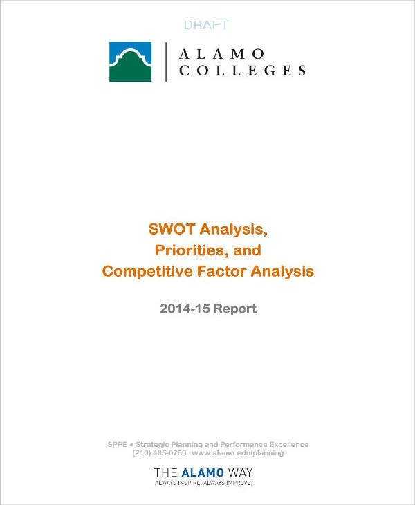 College Priorities and Factor SWOT Analysis