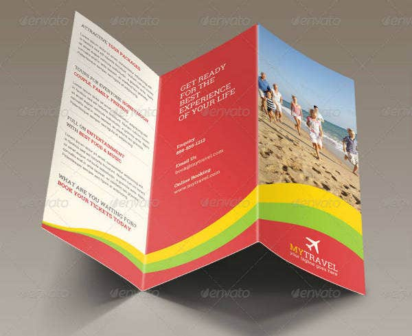 Colorful Cruise Trifold Brochure Template