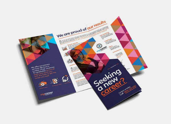 Colorful Recruitment Agency Brochure Template