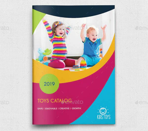 Colorful Toy Products Brochure Template