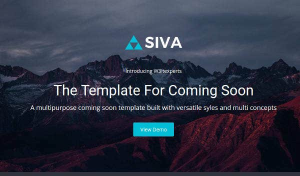 Coming Soon Responsive Website Template