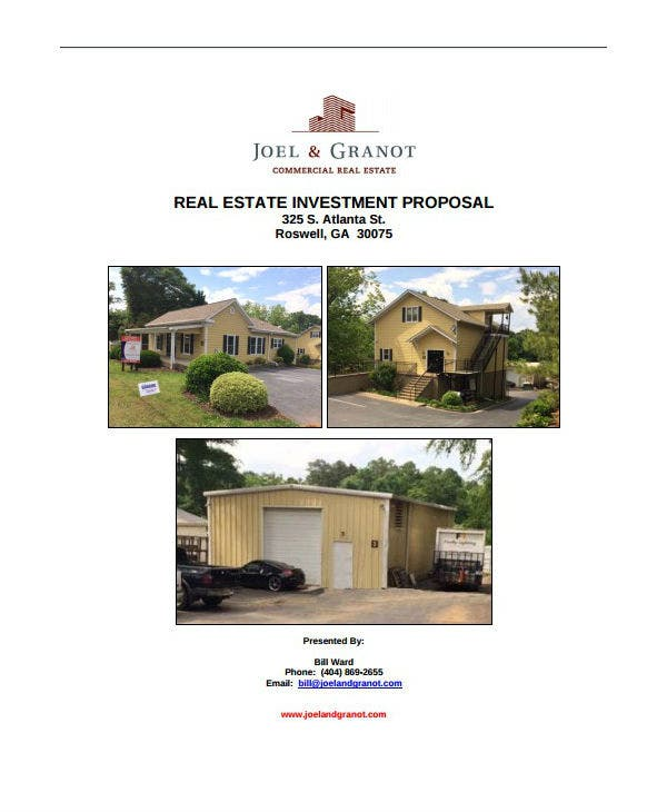commercial property investment proposal template