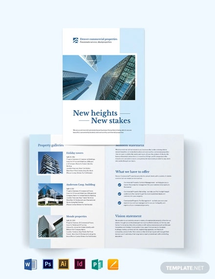 commercial realestate bi fold brochure template