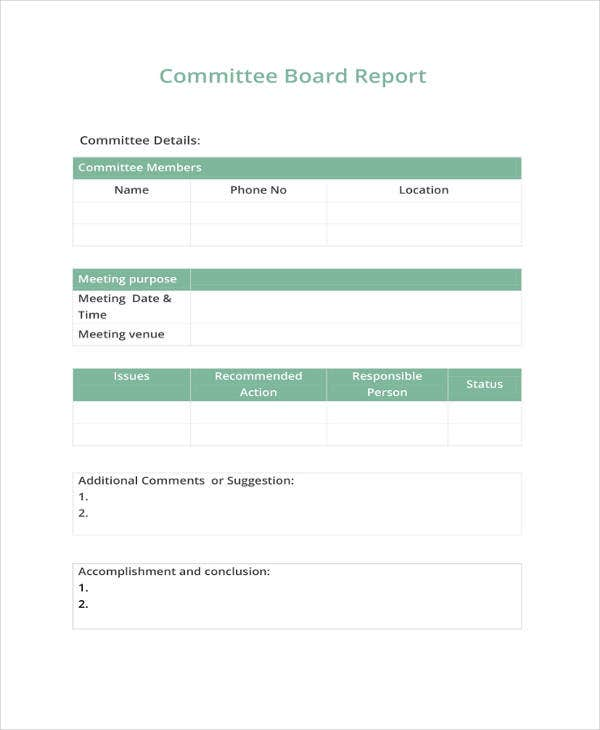 22  board report templates