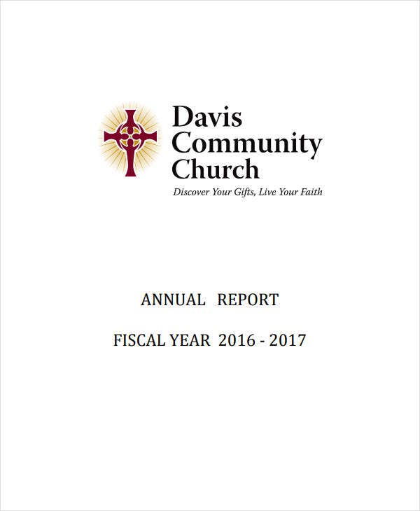 community church annual report
