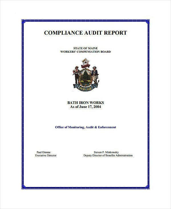 Company Compliance Audit Report Template