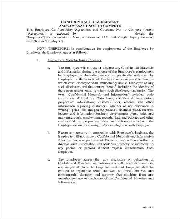 Company Confidentiality Agreement Sample