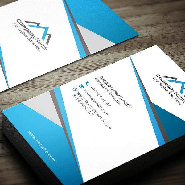 Company Real Estate Business Card Example