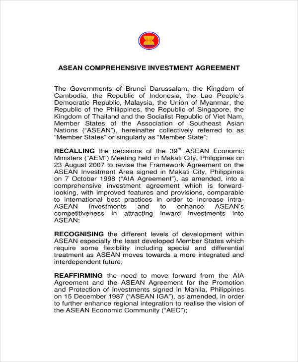 Comprehensive Investment Agreement