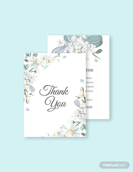 condolence thank you card template1