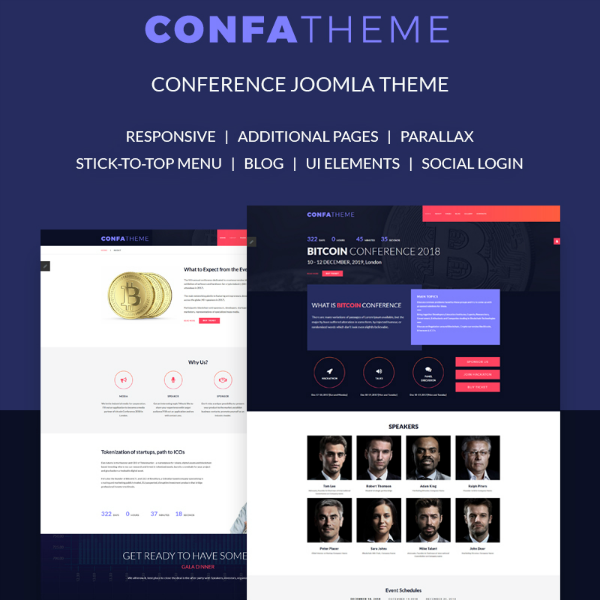 ConfaTheme Conference Website Template