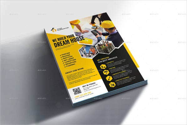 Construction Company Flyer Example
