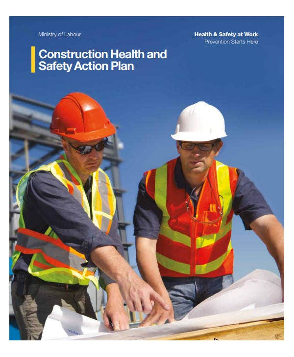 construction health and safety action plan