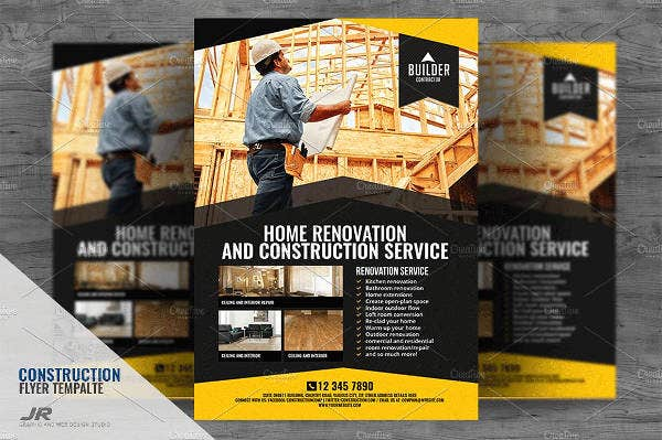Construction Renovation Services Flyer