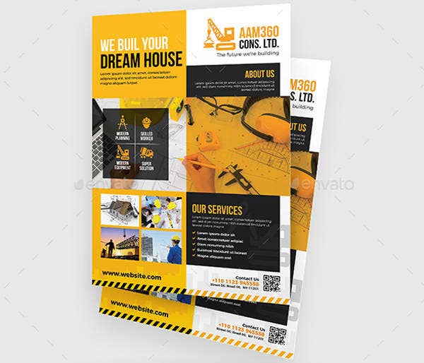 Construction Services Firm Flyer Template
