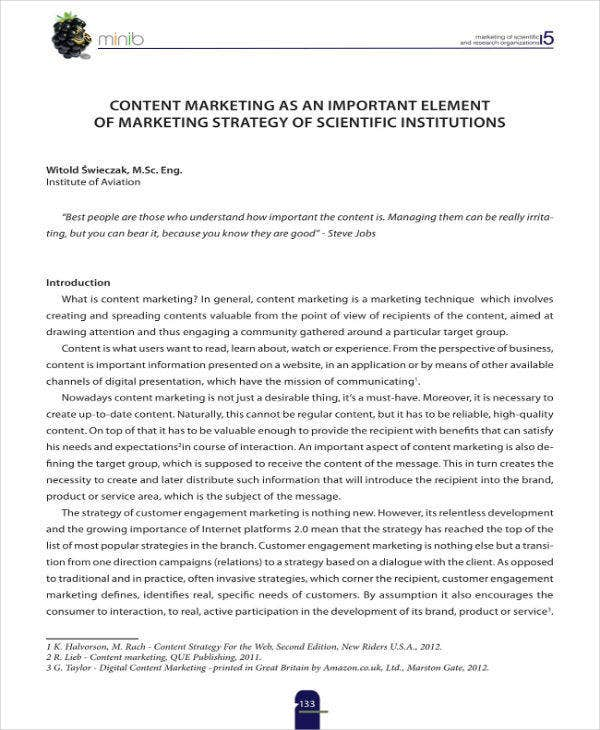 content marketing as a strategy