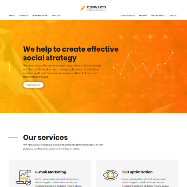 Converty SEO Marketing Agency Website
