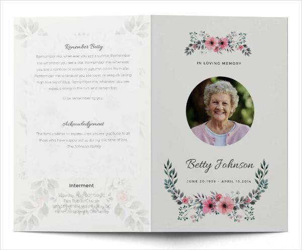 cool funeral services brochure template