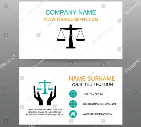 Cool Lawyer Business Card Template