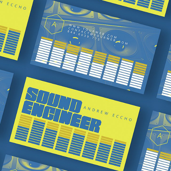 Cool Sound Engineer Business Card Template