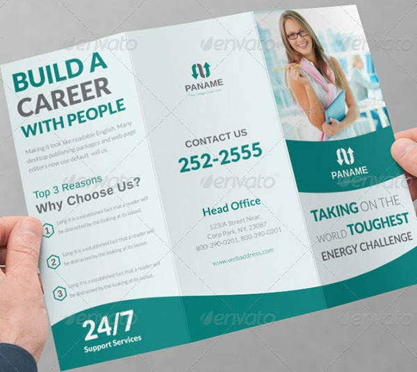 corporate employment agency brochure template
