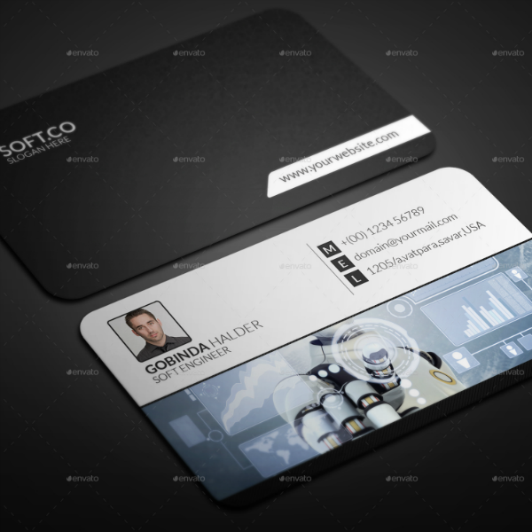Corporate Engineer Business Card Template