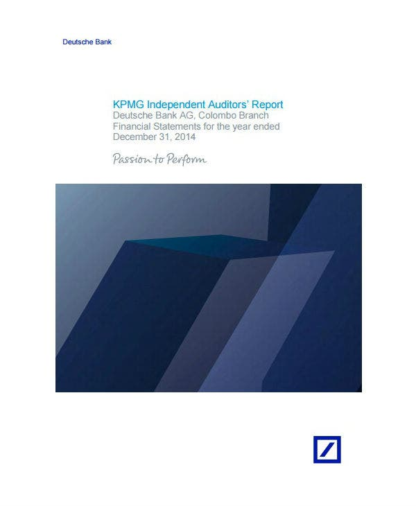 corporate external audit report template