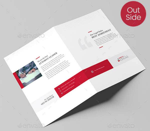 Corporate Lawyer Bi-Fold Brochure Template