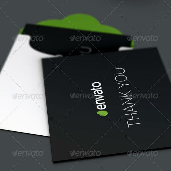 corporate professional thank you card template