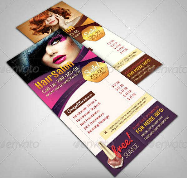 Corporate Salon Rack Card Template