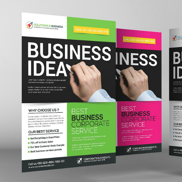 Corporate Service Business Analyst Flyer Template