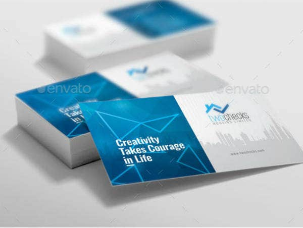 Creative Real Estate Business Card Sample