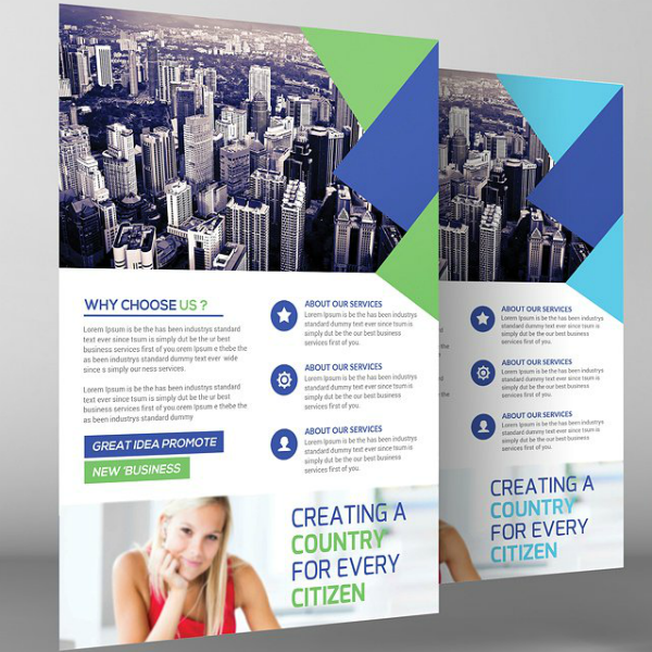 Creative Theme Corporate Strategy Flyer Template