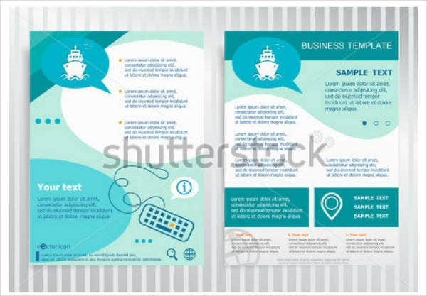 Cruise Vector Brochure Design