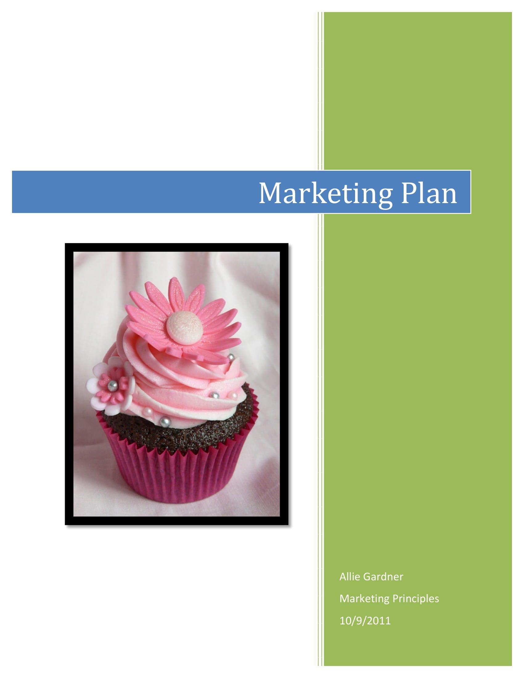cupcake bakery marketing plan