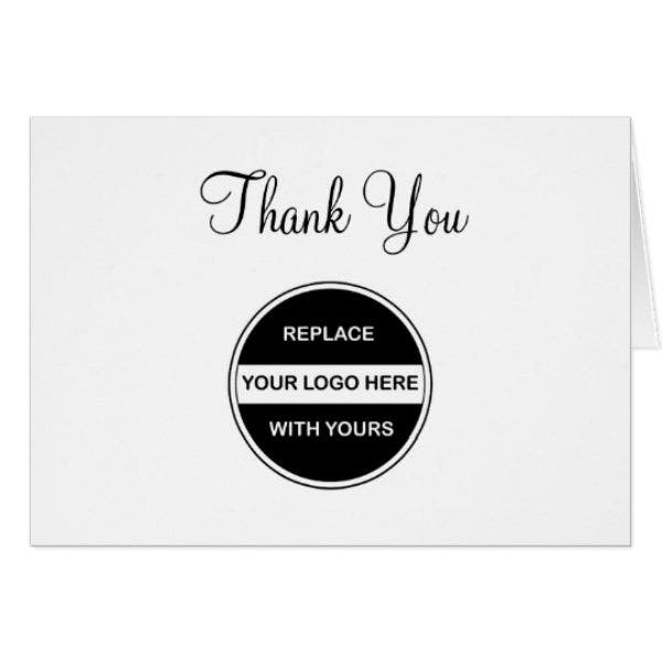 customizable business thank you card template