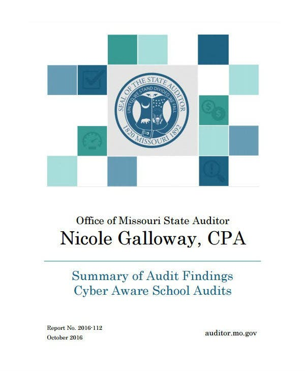 cyber aware schools data audit report template