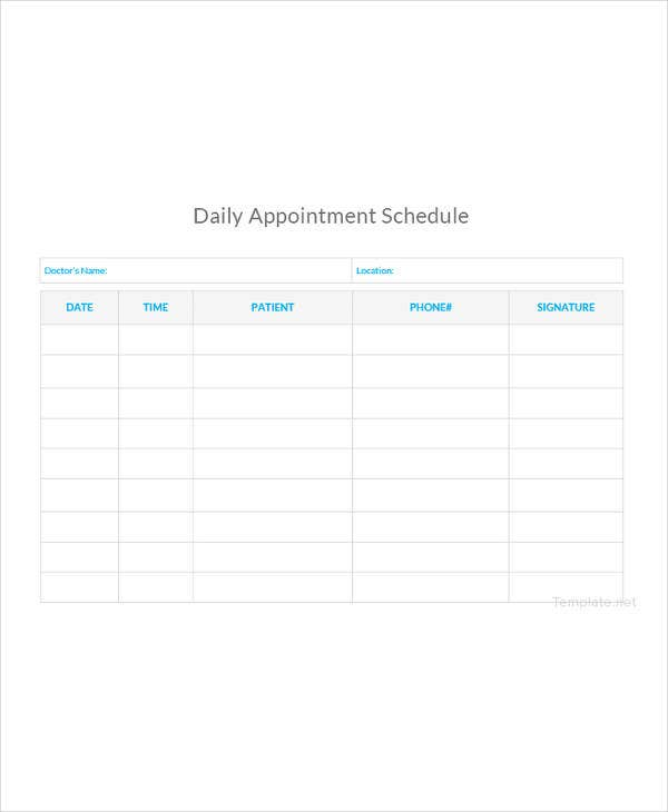 21 appointment schedule templates doc pdf free premium templates