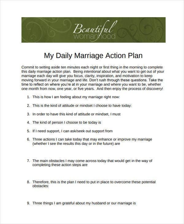 daily marriage action plan