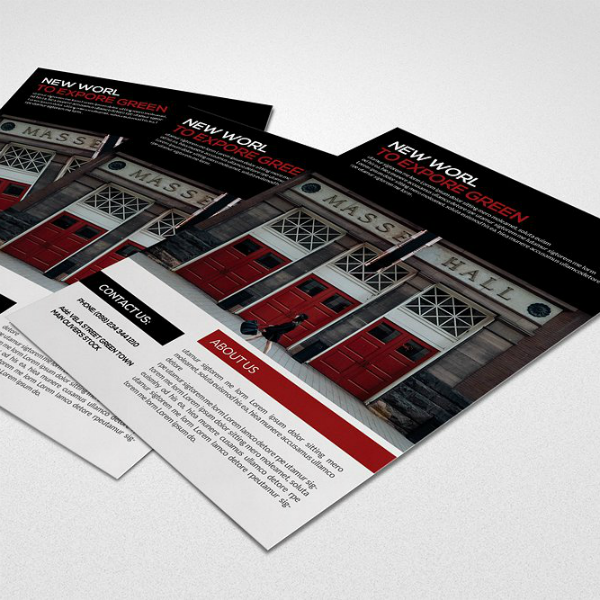 Dark Themed Business Analyst Flyer Template
